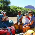 Interp on the Boat While Motoring Through Meander Canyon on the Colorado River
