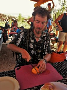 Slicing Oranges on the Daily Outside Moab on the Colorado River
