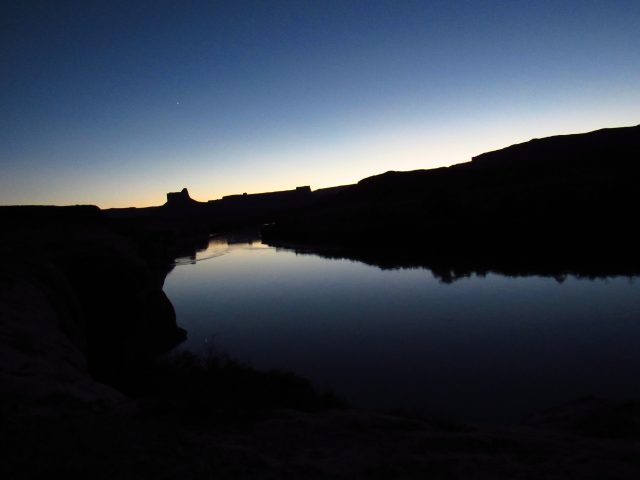 Sunset Reflected on the Green River