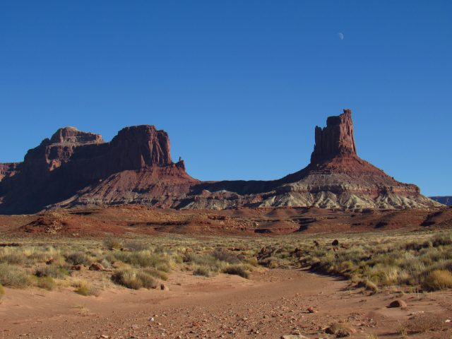 Moon and Junction Butte