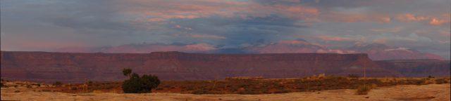 Sunset on the La Sal Mountains Panorama