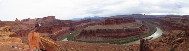 Raisin Rob at the Colorado River Overlook Panorama